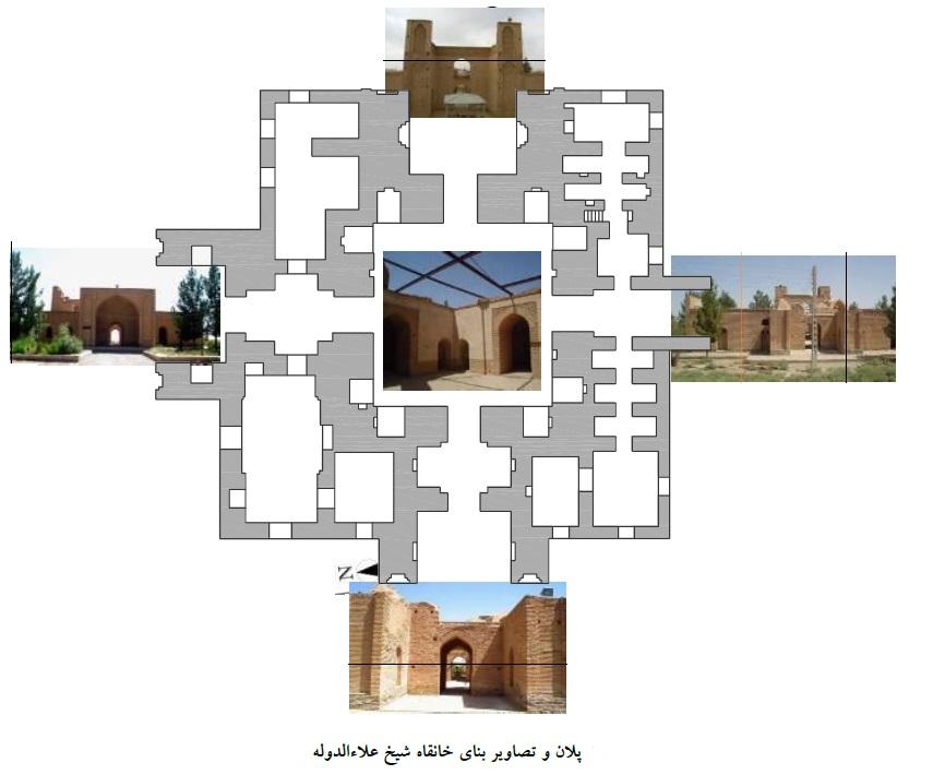 پلان کلی آرامگاه شیخ علاالدوله سمنانی